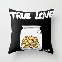 cookies Throw Pillows featuring Cookies by Firielle