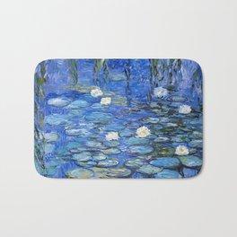 waterlilies a la Monet Bath Mat
