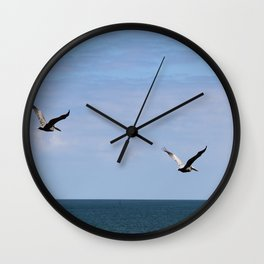 Pair of Pelicans Wall Clock