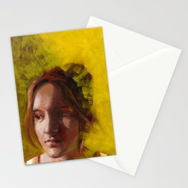 Megan, Fine Art Oil Painting Portrait Print Stationery Cards