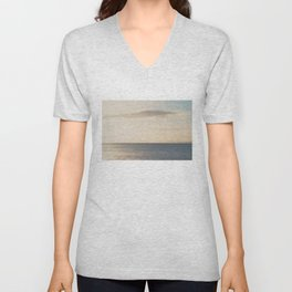 the world is too big to stay in one place ... Unisex V-Neck