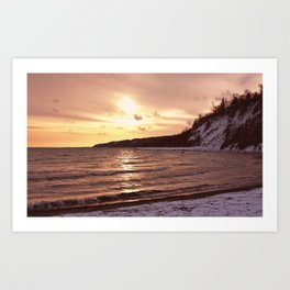 Scarborough Bluffs in Winter on December 27th, 2020. XIII Art Print