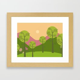 Kawai landscape breaking Dawn Framed Art Print