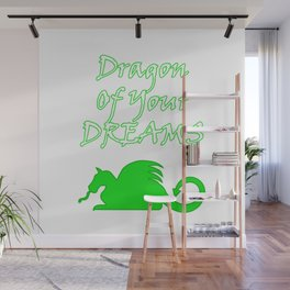 Dragon Of Your Dreams (White) Wall Mural