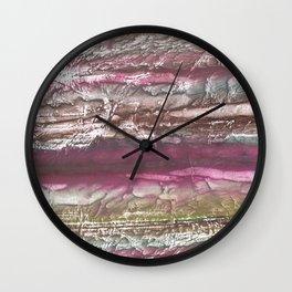 Brown violet wash drawing design Wall Clock