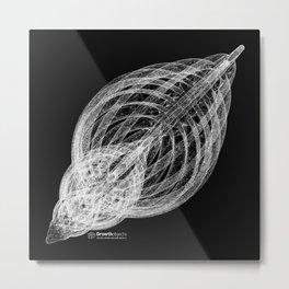 GEOMETRIC NATURE: SLICED SHELL b/w Metal Print