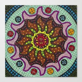 Inner Light Mandala - מנדלה אור פנימי Canvas Print
