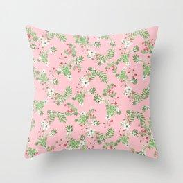 Strawberry Short Cake Christmas Throw Pillow