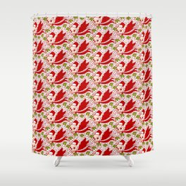 Christmas with a Frenchie Shower Curtain