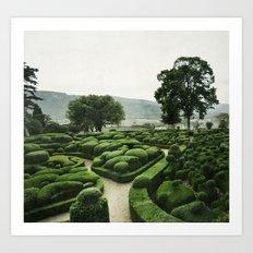 Green Dédale Art Print