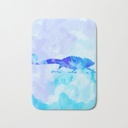 Abstract Chameleon Reptile Bath Mat