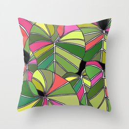 Psychedelic Summer Throw Pillow