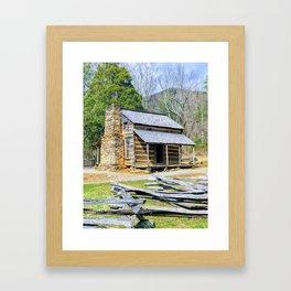 Cades Cove John Oliver Cabin Framed Art Print