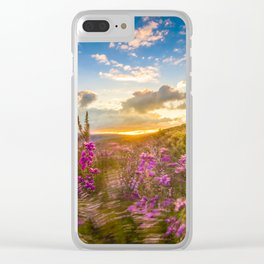 Heather Wicklow Mountains   Ireland Clear iPhone Case