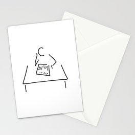 mathematician physicist scientist Stationery Cards