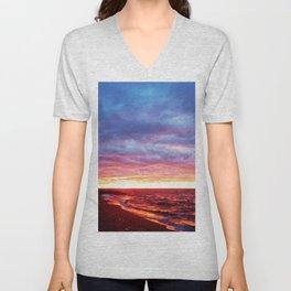 Sunset Saturation  Unisex V-Neck