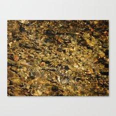 Pebbles Underwater #2 Canvas Print