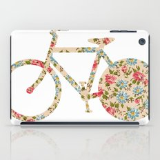 Whimsical cute girly floral retro bicycle iPad Case