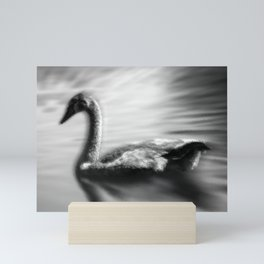 Frozen swan Mini Art Print