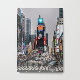 Time Square New York City Metal Print