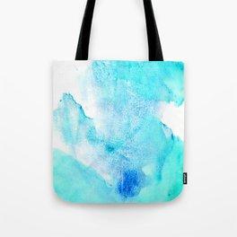 Artistic turquoise aqua teal watercolor paint Tote Bag