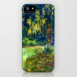 "Claude Monet ""Water lily pond at Giverny"", 1919 iPhone Case"