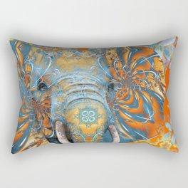 The Happy Blue Elephant Rectangular Pillow