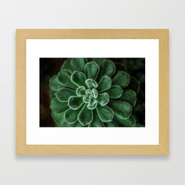 Soft Green Creature Framed Art Print