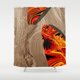 LAVA WOOD Shower Curtain