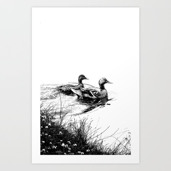 swim, swam Art Print