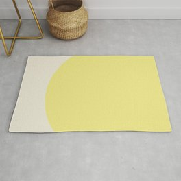 color field - yellow and cream Rug