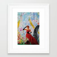vogue Framed Art Prints featuring Vogue by John Turck