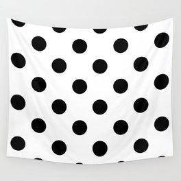 Polkadot (Black & White Pattern) Wall Tapestry
