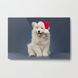 Christmas puppy Metal Print
