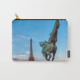 Paris, France: France Reborn Statue on Pont de Bir-Hakeim Carry-All Pouch