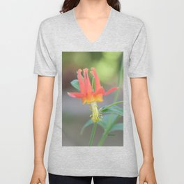 Pastel Columbine Afternoon Unisex V-Neck