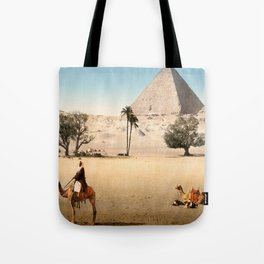 Vintage Pyramid : Grand Pyramid Gizeh Egypt 1895 Tote Bag