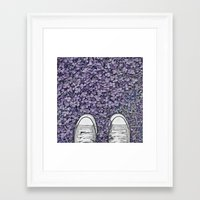 converse Framed Art Prints featuring Converse by LoR.