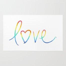 Rainbow Love Rug
