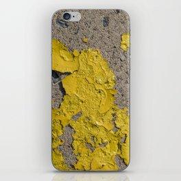 Yellow Peeling Paint on Concrete 2 iPhone Skin