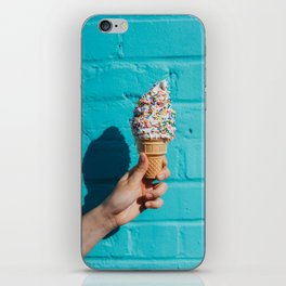 Holding a colorful ice cream iPhone Skin