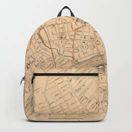 Vintage Map of Haverhill MA (1909) Backpack