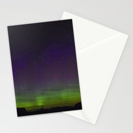Northern Lights over the Rocky Mountains Stationery Cards