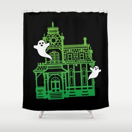 Haunted Victorian House Shower Curtain