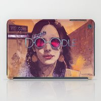 glass iPad Cases featuring Welcome to the Fresh Doodle by Fresh Doodle - JP Valderrama
