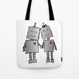 Lovebots Doodle Tote Bag