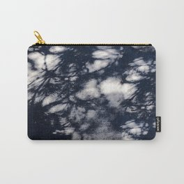 Navy Blue Pine Tree Shadows on Cement Carry-All Pouch