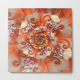 Relief Blossom orange Metal Print