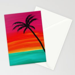 Sunset Palm 2 Stationery Cards