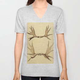 Antique Antlers Unisex V-Neck